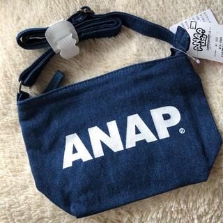 アナップキッズ(ANAP Kids)の新品ANAPKIDS☆ロゴ デニム ショルダーバッグ アナップキッズ(ポシェット)