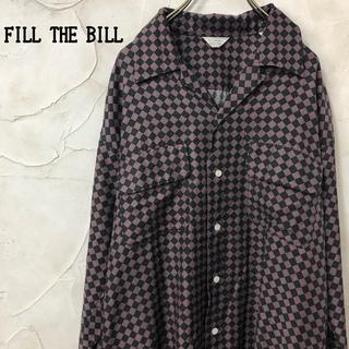 フィル ザ ビル FILL THE BILL キュプラ ハーリキンチェックシャツ(シャツ/ブラウス(長袖/七分))