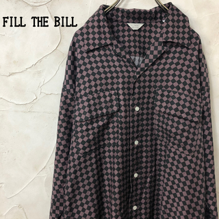 フィル ザ ビル FILL THE BILL キュプラ ハーリキンチェックシャツ(シャツ)