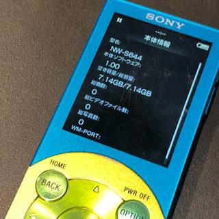 ウォークマン(WALKMAN)のウォークマン WALKMAN NW-S644  8GB ブルー×グリーン(ポータブルプレーヤー)
