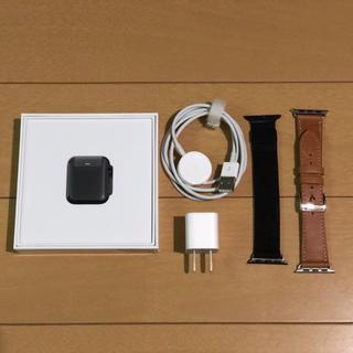 アップルウォッチ(Apple Watch)のApple Watch Series 3 GPSモデル 38mm スペースグレイ(腕時計(デジタル))