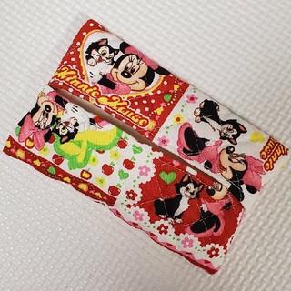 ディズニー(Disney)の国産生地使用 ミニーちゃん ティッシュケース①(雑貨)
