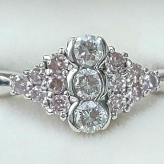 最終価格‼️天然ピンクダイヤモンドリング(リング(指輪))