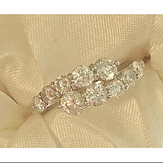美品 Pt900 1カラット スイートテンダイヤモンドリング(リング(指輪))