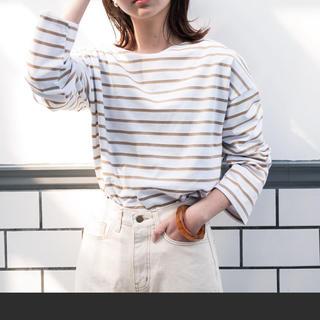 アントマリーズ(Aunt Marie's)のAUNT MARIE'S ドロップショルダーボーダーロングTシャツ(Tシャツ/カットソー(七分/長袖))