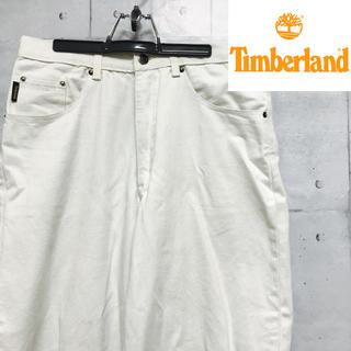 ティンバーランド(Timberland)の【Timberland】ワイドパンツ デニム ホワイト(デニム/ジーンズ)