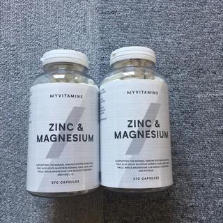 マイプロテイン(MYPROTEIN)の亜鉛&マグネシウム サプリ 270粒 x2本 マイプロテイン(その他)