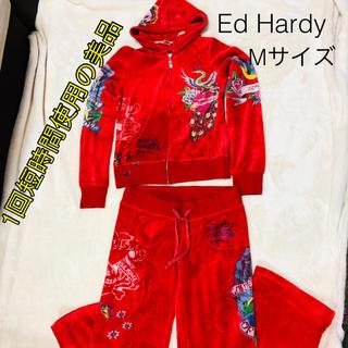 エドハーディー(Ed Hardy)の【Ed Hardy セットアップ】 エドハーディ ベロアジャージ 部屋着(ルームウェア)
