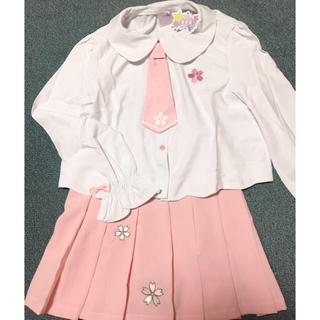 トゥアリス(To Alice)の桜の制服風トップス&スカートセット(ひざ丈スカート)