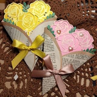 気まぐれsale!現品限り!パリの花束のハンドメイドカード(カード/レター/ラッピング)
