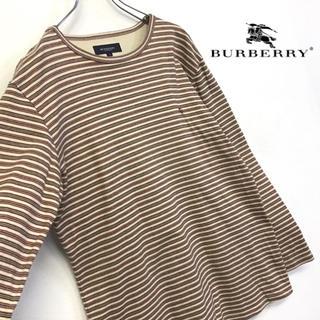 BURBERRY - 美品 BURBERRY LONDON ボーダーロンT 刺繍ロゴ