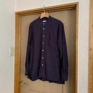 nest Robe CONFECT 起毛リネンバンドカラーシャツ