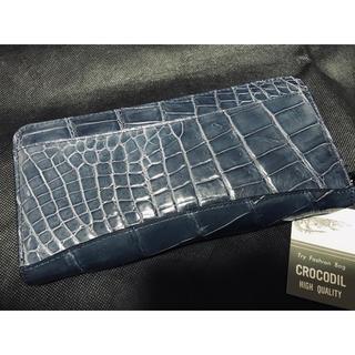 Crocodile - 【高級クロコダイル】ラウンド長財布  ワシントン条約  未使用品
