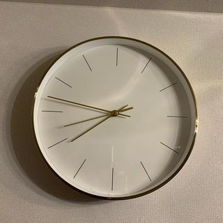 フランフラン(Francfranc)のもも様専用 Francfranc フランフラン 壁掛け時計 ゴールド×ホワイト (掛時計/柱時計)