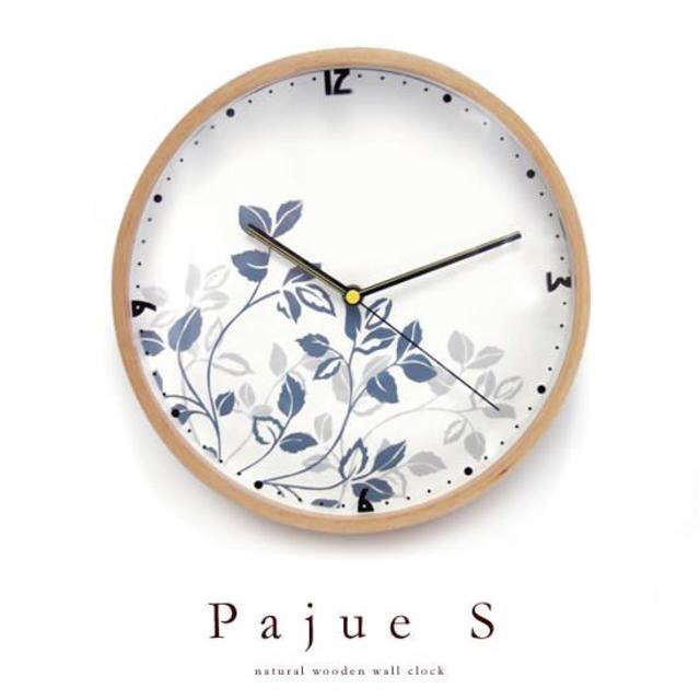 SEIKO(セイコー)の掛け時計 シンプル 花柄 ブルー インテリア/住まい/日用品のインテリア小物(掛時計/柱時計)の商品写真