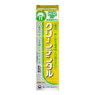 第一三共ヘルスケア - クリーンデンタル M 口臭ケア(黄色)6点 (100g) 歯磨き粉