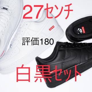 シュプリーム(Supreme)のSupreme / NIKE AIR FORCE 1 LOW 白黒 27センチ(スニーカー)