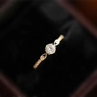 【newデザイン】0.3カラット モアサナイト  ダイヤモンド リング(リング(指輪))