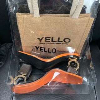 イエローブーツ(Yellow boots)のyello 星あや FLORIDA ORANGE RING SANDALS(ミュール)