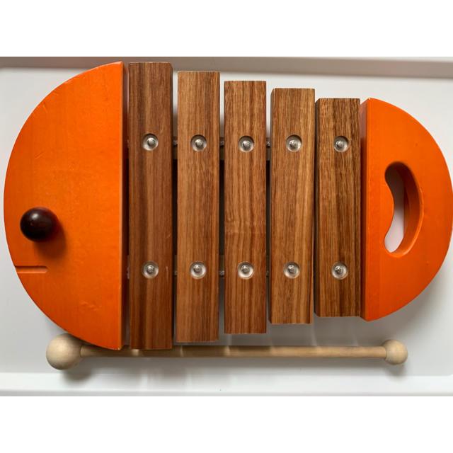 BorneLund(ボーネルンド)のおさかなシロフォン キッズ/ベビー/マタニティのおもちゃ(楽器のおもちゃ)の商品写真