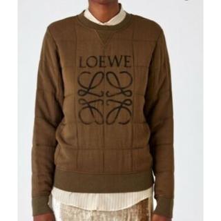ロエベ(LOEWE)の美品 Loewe ロエベ アナグラム スウェット M カーキ ロゴ(トレーナー/スウェット)