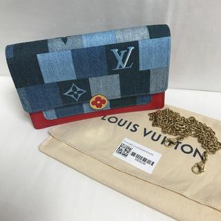 ルイヴィトン(LOUIS VUITTON)のルイヴィトン 日本未入荷 デニム チェーンウォレット(財布)
