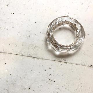 シルバー×クリア リング ボリューム+ 約16号(リング(指輪))