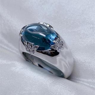 ニナリッチ(NINA RICCI)のNINA RICCI k18wg ブルートパーズ ダイヤモンド リング(リング(指輪))