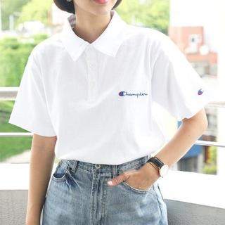 チャンピオン(Champion)の新品 Champion ワンポイント刺繍 ベーシック ポロシャツ L(ポロシャツ)