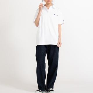 チャンピオン(Champion)の新品 Champion ワンポイント刺繍 ベーシック ポロシャツ M(ポロシャツ)