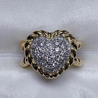 ポンテヴェキオ(PonteVecchio)の●ポンテヴェキオ k18/wg ダイヤモンドハート 指輪(リング(指輪))