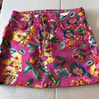 ケイトスペードニューヨーク(kate spade new york)のケイトスペード ピンク 花柄 ゴルフスカート(ミニスカート)