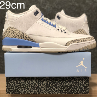 ナイキ(NIKE)の29 AIR JORDAN 3 RETRO UNC VALOR BLUE AJ3(スニーカー)