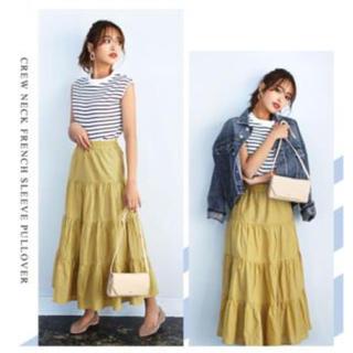 ティティベイト(titivate)のtitivate 近藤千尋さん着用コットン ティアードスカート(ロングスカート)