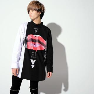 ミルクボーイ(MILKBOY)のKINGLYMASK KMK 切替アンティークキー/ lipブロードビッグシャツ(シャツ)
