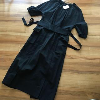 ミュベールワーク(MUVEIL WORK)のmuveil 完売ワンピース BLACK 38 大特価セール!新品未使用タグ付(ロングワンピース/マキシワンピース)