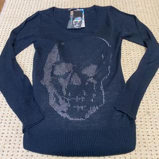 ゴーストオブハーレム(GHOST OF HARLEM)の透けるスカル柄春物セーター(ニット/セーター)
