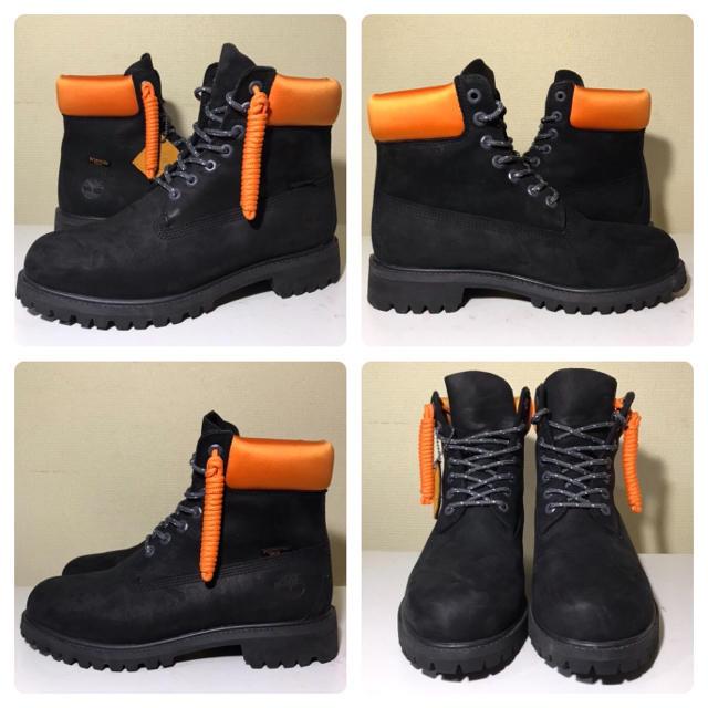 Timberland(ティンバーランド)の【超激レア‼️美品】27cm ティンバーランド×PORTER ブラック×オレンジ メンズの靴/シューズ(ブーツ)の商品写真