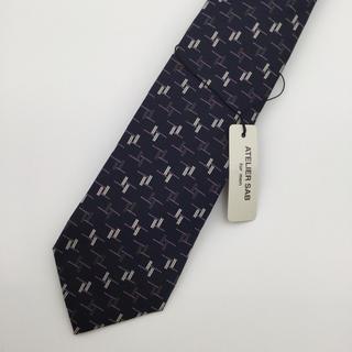 アトリエサブ(ATELIER SAB)の新品未使用 アトリエサブ ATELIER SAB ネクタイ シルク 紺色 (ネクタイ)