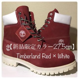 Timberland - 【新品限定カラー】27.5cm ティンバーランド レッド×ホワイトエンブレム