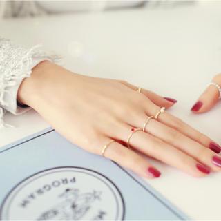 5点セットリング、赤ビーズ付き ファラン(リング(指輪))