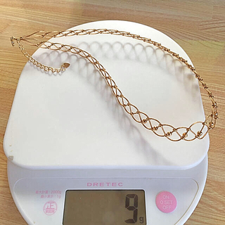 ミツコシ(三越)の18金デザインネックレス☆重さ確認9g(ネックレス)