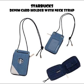 スターバックスコーヒー(Starbucks Coffee)のスターバックス デニム ロゴ パスケース カードケース(パスケース/IDカードホルダー)