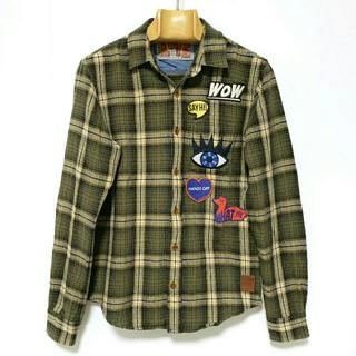 スコッチアンドソーダ(SCOTCH & SODA)のSCOTCH&SODA ワッペンチェックシャツ/メンズS(シャツ)