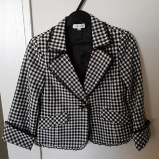 エニィファム(anyFAM)のany fam 卒業式 140 結婚式 フォーマル ジャケット スーツ チェック(ドレス/フォーマル)