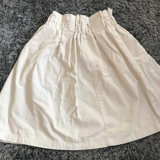 ページボーイ(PAGEBOY)のスカート ホワイトデニム(ひざ丈スカート)