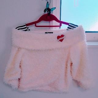 ジェニィ(JENNI)の【送料無料】JENNI 140㎝ 女の子 白 もこもこセーター(ニット)
