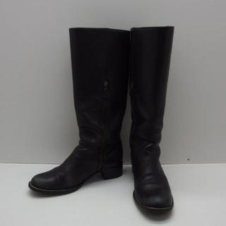 ミュウミュウ(miumiu)の♯0558+・miu miu ミュウミュウ エンジニアブーツ 黒 サイズ37(ブーツ)