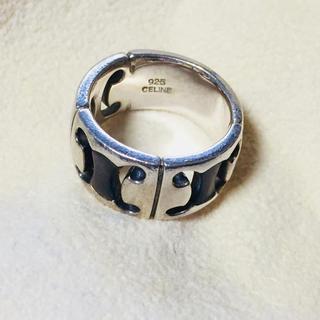 セリーヌ(celine)のceline シェル付き ロゴ型抜きリング(リング(指輪))