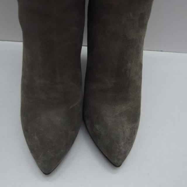 miumiu(ミュウミュウ)の♯0559・miu miu ミュウミュウ ブーツ スエードグレー イタリア製 レディースの靴/シューズ(ブーツ)の商品写真